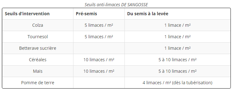 Seuil anti-limaces
