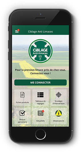 Ciblage anti-limaces Application mobile